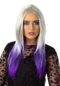 Womens Purple And Grey Ombre ウィッグ ハロウィン コスプレ 衣装 仮装 小道具 おもしろい イベント パーティ ハロウィーン 学芸会