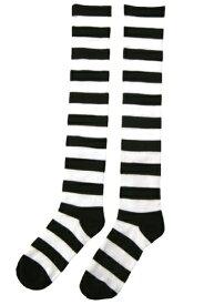 Striped Witch Socks ハロウィン コスプレ 衣装 仮装 小道具 おもしろい イベント パーティ ハロウィーン 学芸会