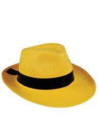 大人用 Yellow Fedora 帽子 ハット ハロウィン コスプレ 衣装 仮装 小道具 おもしろい イベント パーティ ハロウィーン 学芸会