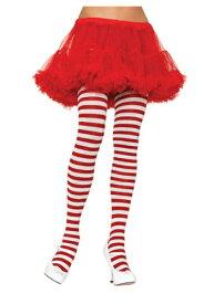 大きいサイズ ホワイト / レッド Striped Tights ハロウィン コスプレ 衣装 仮装 小道具 おもしろい イベント パーティ ハロウィーン 学芸会