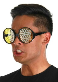 Black/Yellow Bug Eyes 眼鏡 ハロウィン コスプレ 衣装 仮装 小道具 おもしろい イベント パーティ ハロウィーン 学芸会
