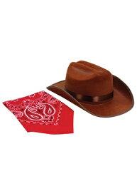 Brown Junior Cow男の子 帽子 ハット and Bandana Set ハロウィン コスプレ 衣装 仮装 小道具 おもしろい イベント パーティ ハロウィーン 学芸会
