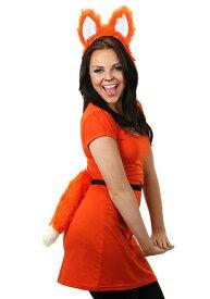 《全品P5倍 クーポン多数有》Moving Orange Furry Fox Tail ハロウィン コスプレ 衣装 仮装 小道具 おもしろい イベント パーティ ハロウィーン 学芸会