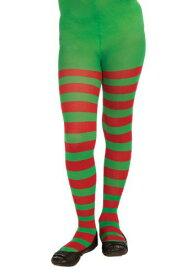 チャイルド レッド & Green Striped Tights ハロウィン コスプレ 衣装 仮装 小道具 おもしろい イベント パーティ ハロウィーン 学芸会