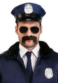 Men's ポリス 警察 Officer Mustache ハロウィン コスプレ 衣装 仮装 小道具 おもしろい イベント パーティ ハロウィーン 学芸会