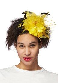 Trim Yellow Fascinator ハロウィン コスプレ 衣装 仮装 小道具 おもしろい イベント パーティ ハロウィーン 学芸会