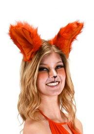《全品P5倍 クーポン多数有》デラックス Orange Fox Ears Headband ハロウィン コスプレ 衣装 仮装 小道具 おもしろい イベント パーティ ハロウィーン 学芸会