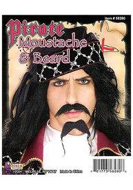 海賊 パイレーツ ブラック Beard & Mustache ハロウィン コスプレ 衣装 仮装 小道具 おもしろい イベント パーティ ハロウィーン 学芸会