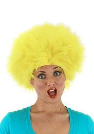 Fuzzy Yellow ウィッグ ハロウィン コスプレ 衣装 仮装 小道具 おもしろい イベント パーティ ハロウィーン 学芸会