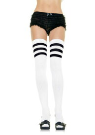 【全品10%OFFクーポン有】ホワイト Athletic Socks with ブラック Stripes for Women ハロウィン コスプレ 衣装 仮装 小道具 おもしろい イベント パーティ ハロウィーン 学芸会
