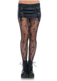 大きいサイズ Cross Net Tights ハロウィン コスプレ 衣装 仮装 小道具 おもしろい イベント パーティ ハロウィーン 学芸会