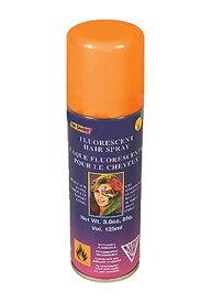 《全品P5倍 クーポン多数有》Florescent Orange Hair Spray ハロウィン コスプレ 衣装 仮装 小道具 おもしろい イベント パーティ ハロウィーン 学芸会