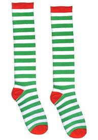 大人用 レッド and Green Striped Socks ハロウィン コスプレ 衣装 仮装 小道具 おもしろい イベント パーティ ハロウィーン 学芸会