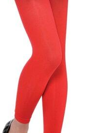 ガールズ レッド Footless Tights ハロウィン コスプレ 衣装 仮装 小道具 おもしろい イベント パーティ ハロウィーン 学芸会