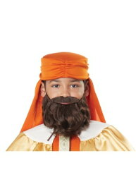 Wise Man Brown Beard and Mustache for 男の子s ハロウィン コスプレ 衣装 仮装 小道具 おもしろい イベント パーティ ハロウィーン 学芸会
