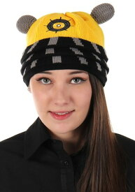 Yellow Eternal Dalek Knitted Winter 帽子 ハット ハロウィン コスプレ 衣装 仮装 小道具 おもしろい イベント パーティ ハロウィーン 学芸会