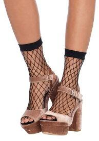 ブラック Fishnet Ankle Socks ハロウィン コスプレ 衣装 仮装 小道具 おもしろい イベント パーティ ハロウィーン 学芸会