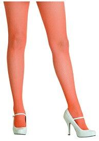 《全品P5倍 クーポン多数有》Neon Orange Fishnet Tights ハロウィン コスプレ 衣装 仮装 小道具 おもしろい イベント パーティ ハロウィーン 学芸会