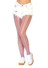 Women's Shimmer Rainbow Tights ハロウィン コスプレ 衣装 仮装 小道具 おもしろい イベント パーティ ハロウィーン 学芸会