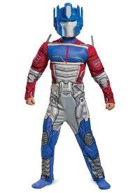 Transformers キッズ Muscle Optimus Prime コスチューム ハロウィン 子ども コスプレ 衣装 仮装 こども イベント 子ども パーティ ハロウィーン 学芸会