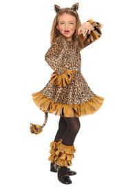 Girls Leopard コスチューム ハロウィン 子ども コスプレ 衣装 仮装 こども イベント 子ども パーティ ハロウィーン 学芸会