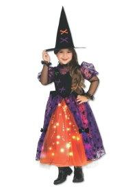 Girls Sparkle Witch コスチューム ハロウィン 子ども コスプレ 衣装 仮装 こども イベント 子ども パーティ ハロウィーン 学芸会