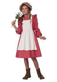 レッド Frontier Settler コスチューム for 女の子s ハロウィン 子ども コスプレ 衣装 仮装 こども イベント 子ども パーティ ハロウィーン 学芸会