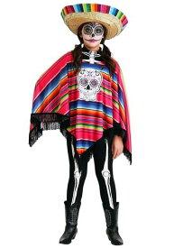 Day of the Dead 女の子's Poncho コスチューム ハロウィン 子ども コスプレ 衣装 仮装 こども イベント 子ども パーティ ハロウィーン 学芸会