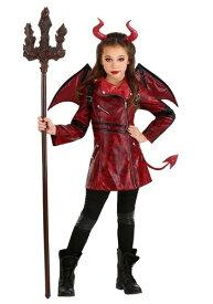 Leather 女の子s D邪悪な コスチューム ハロウィン 子ども コスプレ 衣装 仮装 こども イベント 子ども パーティ ハロウィーン 学芸会