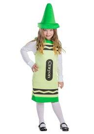 Toddlers Green Crayon コスチューム ハロウィン 子ども コスプレ 衣装 仮装 こども イベント 子ども パーティ ハロウィーン 学芸会