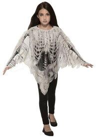 Tatteレッド Skeleton Poncho コスチューム for 女の子s ハロウィン 子ども コスプレ 衣装 仮装 こども イベント 子ども パーティ ハロウィーン 学芸会