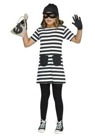 Burglar 女の子s コスチューム ハロウィン 子ども コスプレ 衣装 仮装 こども イベント 子ども パーティ ハロウィーン 学芸会
