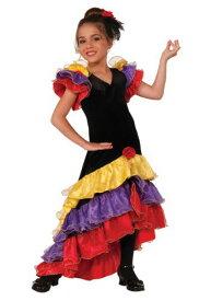 《ラストクーポン 全品10%OFF》Girls Flamenco Dancer コスチューム ハロウィン 子ども コスプレ 衣装 仮装 こども イベント 子ども パーティ ハロウィーン 学芸会