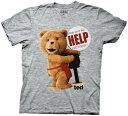 映画【TED(テッド)】オフィシャルTシャツ グレー/DVD/レンタル/ブルーレイ/販売/購入/通販/吹き替え/ビデオ 誕生日 …