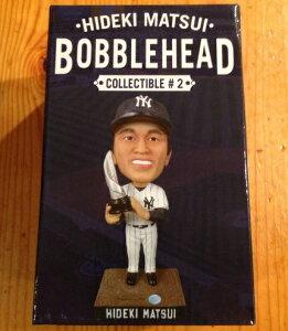 限定 ニューヨークヤンキース 松井秀喜 7 28引退記念日 配布 バブルヘッド 人形 メジャーリーグ 首振り人形