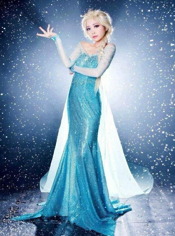 アナ雪 ドレス エルサ コスチューム コスプレ 衣装 大人用 レディス 女性用 ハロウィン 仮装