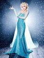 大ヒット映画アナと雪の女王エルサ大人用ドレスコスチュームレディス女性用コスプレドレス衣装ハロウィン仮装