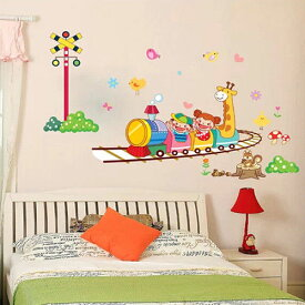 Cartoon Train ビニール Art ウォールデコ ウォールステッカー インテリア 壁 シール Decor デカール DIY Home Parlor Kid Window