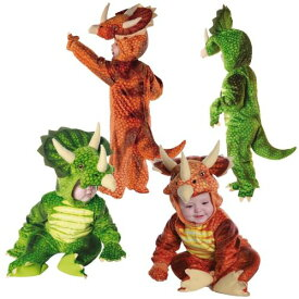 《24日〜お得クーポン多数!!》恐竜 ドラゴン ティラノサウルスベイビー & Toddler キッズ 子供用 トリケラトプス 恐竜 ドラゴン クリスマス ハロウィン コスチューム コスプレ 衣装 変装 仮装