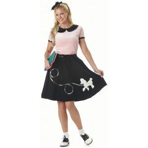 プードル 犬 ドッグ スカート 大人用 レディス 女性用 1950s 女神 クリスマス ハロウィン コスチューム コスプレ 衣装 変装 仮装