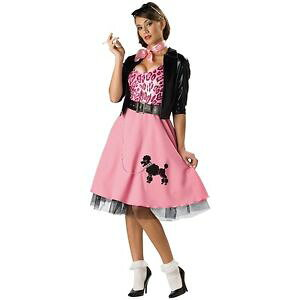 50's Bad ガール 大人用 プードル 犬 ドッグ スカート 1950s クリスマス ハロウィン コスチューム コスプレ 衣装 変装 仮装