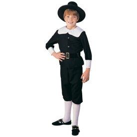 Pilgrim Boy キッズ 子供用 ブラック & ホワイト Thanksgiving ハロウィン コスチューム コスプレ 衣装 変装 仮装