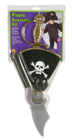 Pirate アクセサリー Kit おもちゃ 武器 子供用 Set クリスマス ハロウィン コスチューム コスプレ 衣装 変装 仮装