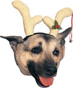 Reindeer ヘッドピース Antlers Horns クリスマス Holiday Pet Dog Cat アクセサリー ハロウィン コスチューム コスプレ 衣装 変装 仮装