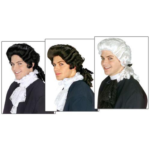Colonial ウィッグ 大人用 男性用 メンズ Founding Fathers 18th Century ハロウィン コスチューム コスプレ 衣装 変装 仮装