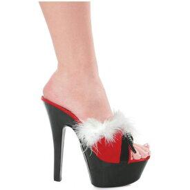Burlesque Marabou High Heel Slipper Pumps Miss Ms Mrs Santa Clausシューズ 靴 クリスマス ハロウィン コスチューム コスプレ 衣装 変装 仮装