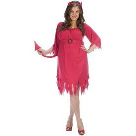 Tatteレッド デビル 悪魔 セクシー Red ドレス & Horns HeadbandStd/プラスサイズ 大きいサイズ クリスマス ハロウィン コスチューム コスプレ 衣装 変装 仮装