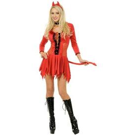 Smokin Hot Devil 大人用 Red Mini ドレス & Horns クリスマス ハロウィン コスチューム コスプレ 衣装 変装 仮装