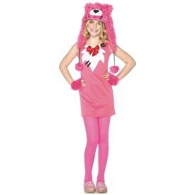 Pink Teddy クマ 熊 テディベア キッズ 子供用 Cute Care クリスマス ハロウィン コスチューム コスプレ 衣装 変装 仮装