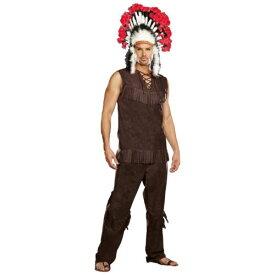 インディアン男性用 メンズ Chief 大人用or Thanksgiving ハロウィン コスチューム コスプレ 衣装 変装 仮装